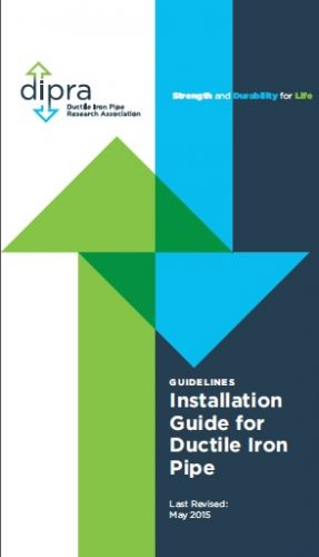 Installation Guide for Ductile Iron Pipe, 2015, DIPRA