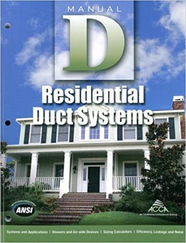 Manual D - Residential Duct Systems, 2009 Edition