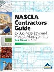 New Jersey NASCLA Contractors Guide to Business, Law and Project Management, NJ 1st Edition; Highlighted & Tabbed