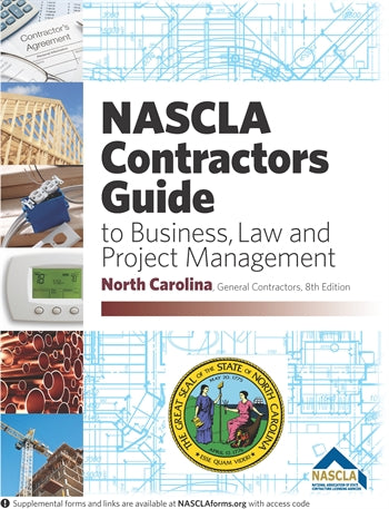 North Carolina NASCLA Contractors Guide to Business, Law and Project Management NC General, 8th Edition; Highlighted & Tabbed