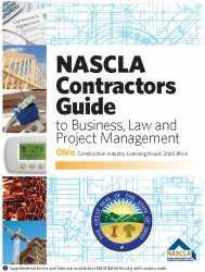 Ohio NASCLA Contractors Guide to Business, Law and Project Management, OH 2nd Edition; Highlighted & Tabbed