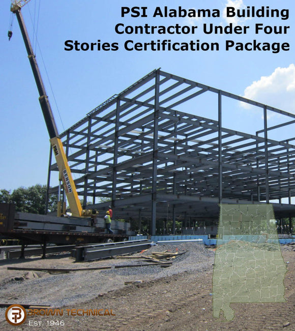 PSI Alabama Building Contractor Under Four Stories Certification Package