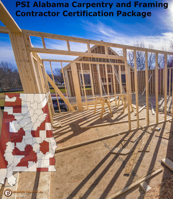 PSI Alabama Carpentry and Framing Contractor Certification Package