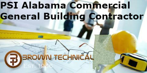 PSI Alabama Commercial General Building Contractor Certification Package