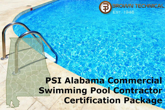PSI Alabama Commercial Swimming Pool Contractor Certification Package