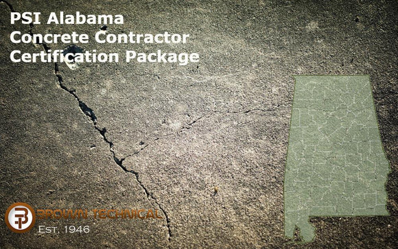 PSI Alabama Concrete Contractor Certification Package
