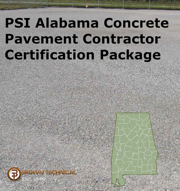 PSI Alabama Concrete Pavement Contractor Certification Package