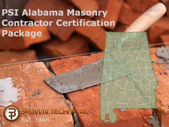 PSI Alabama Masonry Contractor Certification Package