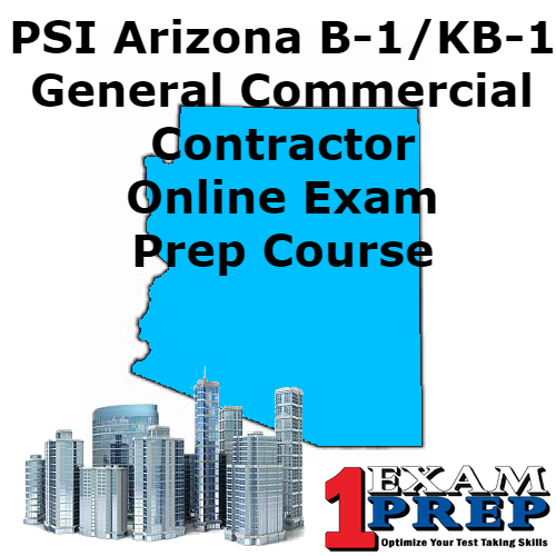 PSI Arizona B-1 (KB-1) General Commercial Contractor - Online Exam Prep Course