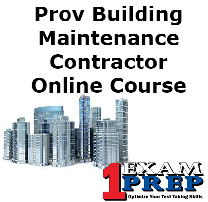 Prov Building Maintenance Contractor Online Course