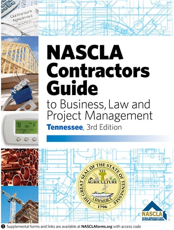 TENNESSEE-NASCLA Contractors Guide to Business, Law and Project Management, Tennessee 3rd Edition; Highlighted & Tabbed