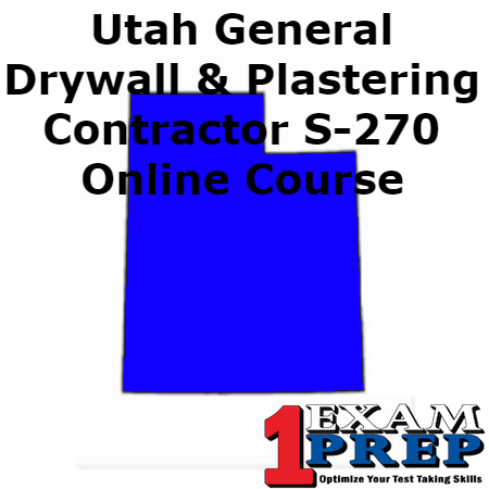 Utah General Drywall and Plastering Contractor S-270 Course