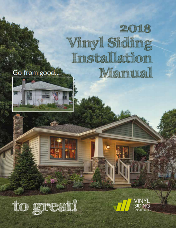 Vinyl Siding Installation Manual, 2018