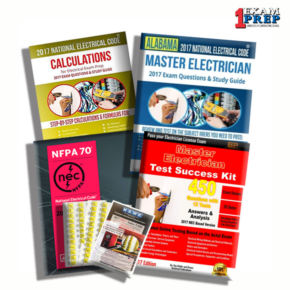 Alabama Master Electrician Exam Prep Package