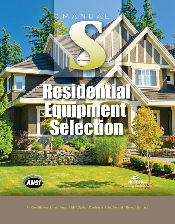 Manual S® - Residential Equipment Selection (2nd Edition)