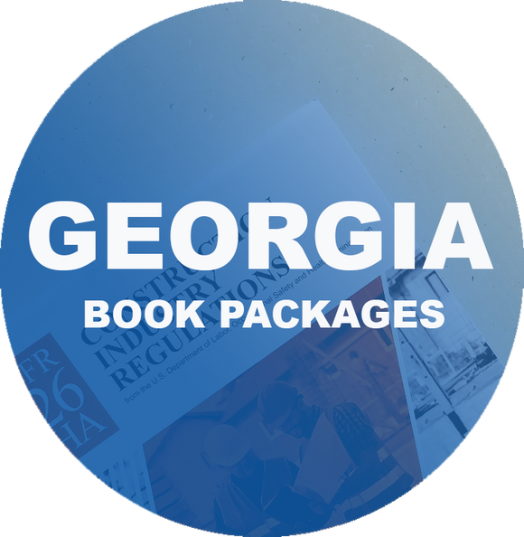 Complete Book Set for Georgia NASCLA Examination for Commercial General Building Contractors