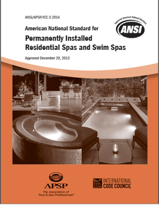 ANSI/APSP/ICC-3 2014 Standard for Permanently Installed Residential Spas and Swim Spas (Print)