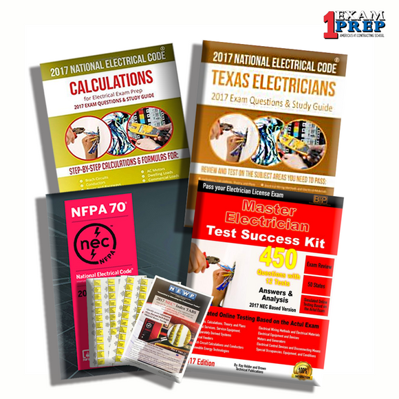 Texas Master Electrician Exam Prep Package