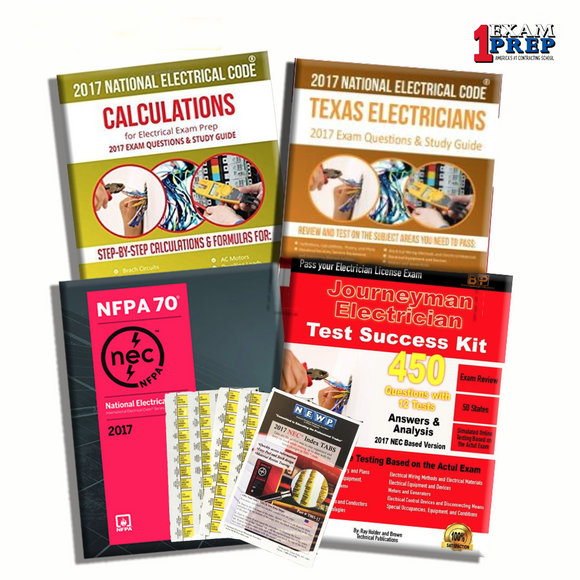 Texas Journeyman Electrician Exam Prep Package