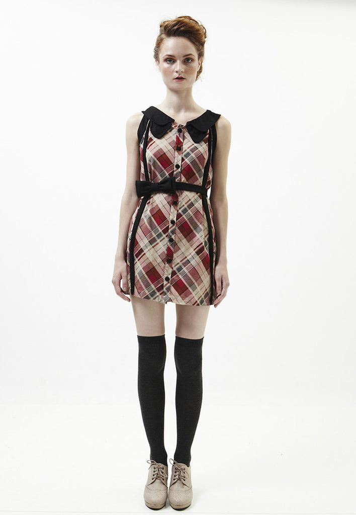 Terry Dress In Red Checked