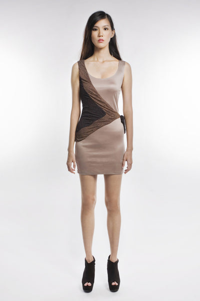 Claudette Dress In Brown