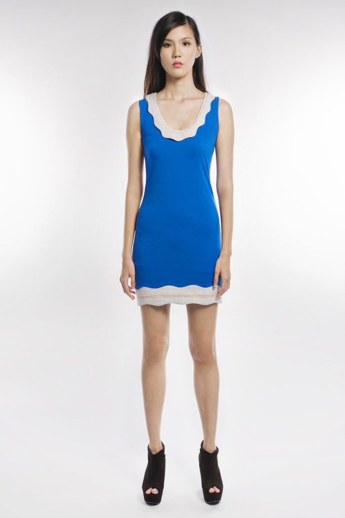 Arlene Dress In True Blue