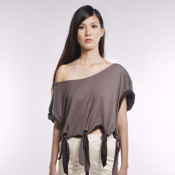 Wanda Top In Black/Grey