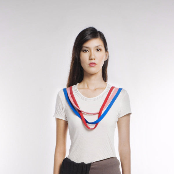 Pablo Top In White And Red