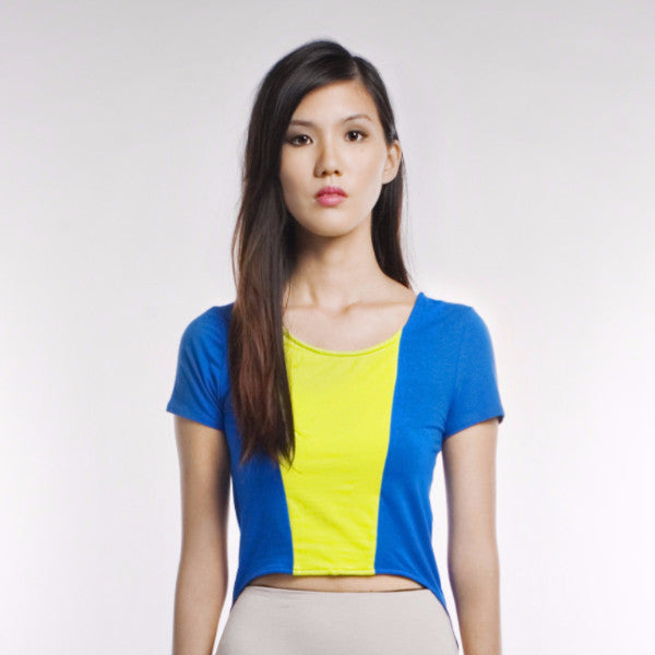Paula Top In Blue And Lime