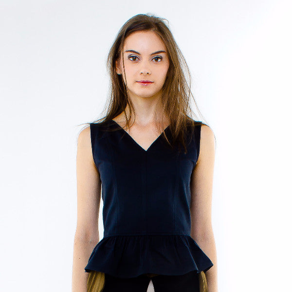 Hyacinth Top In Black
