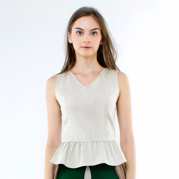 Hyacinth Top In Beige