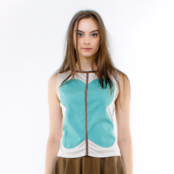 Freesia Top In Mint Green