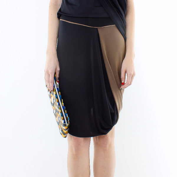 Styrax Skirt In Black With Brown