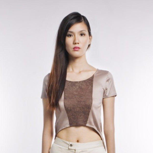 Paula Top In Brown And Dark Brown