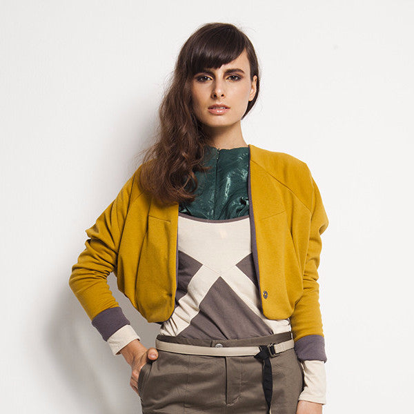 Beryl Outerwear In Yellow With Inner Grey