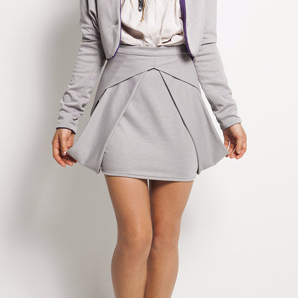 Kryptonite Skirt In Light Grey