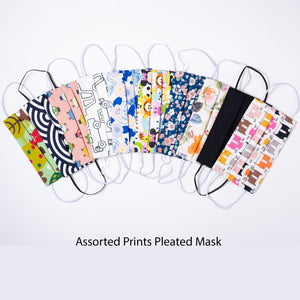 Assorted Prints Pleated Mask
