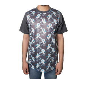 Merlion Grey Blue T-Shirt