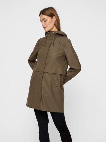 Tan  recycled raincoat