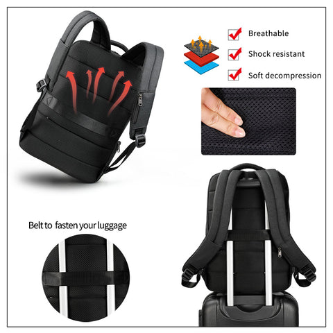 "New Arrival  15.6"" Laptop Backpacks  Anti Theft Solid Rucksack - Coolmart.us"