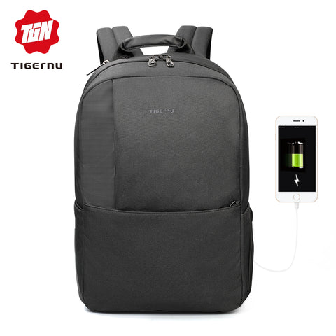 Tigernu  Multi function backpack for teenager, USB Port, Good for 15.6 inch Laptop, Anti-theft