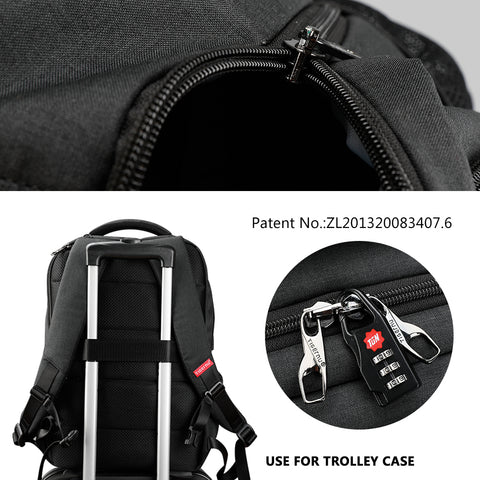 Tigernu multi-function USB slim 15.6 laptop backpack anti-theft backpacks