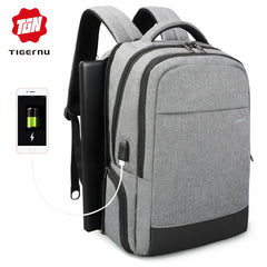 Tigernu  Anti theft  Multifunctional USB Charging 15 inch Laptop Backpack