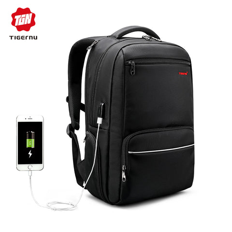 Tigernu Men Backpack Nylon Waterproof Anti Theft  Locks Travel Laptop Backpack 15.6 inch