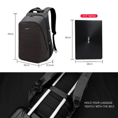 Tigernu multi function USB charging, 15 inch laptop backpacks fashion, travel anti theft backpack