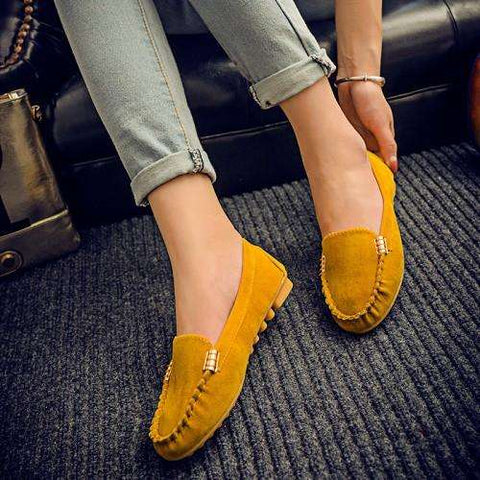Hot sale women casual shoes fashion summer slip on candy color women flat shoes loafers flock comfortable ladies shoes DT81 - Coolmart.us