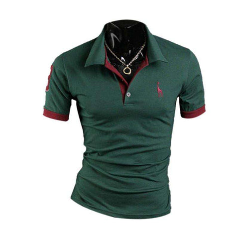 Fashion Men's Stylish Slim Fit Short Sleeve Casual Polo Shirts T-shirt H42