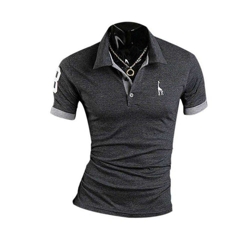 Fashion Men's Stylish Slim Fit Short Sleeve Casual Polo Shirts T-shirt H42 - Coolmart.us
