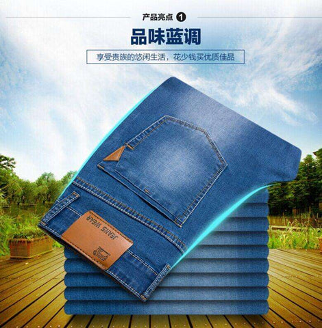 Summer new Stretch Cotton breathable and comfortable men's jeans