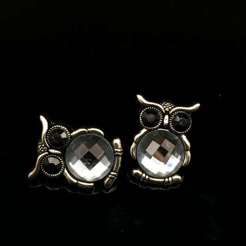 Lapel Pin Men's Suits Alloy Owl Brooches Wedding Business Crystal Badges Buttons Collar Pin Up Corsage Neckwear Accessories - Coolmart.us